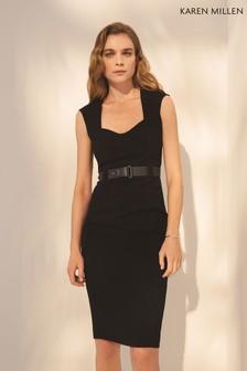 Karen Millen Black Elongated Investment Dress