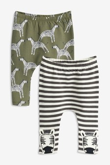 Zebra Leggings Two Pack (0mths-2yrs)