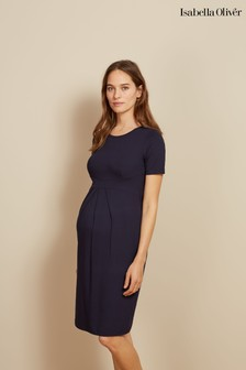 Isabella Oliver Navy Catherine Maternity Dress