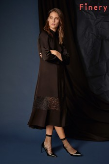 Finery London Beladonia Lace Embroidered Dress