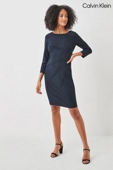 Calvin Klein Scuba Wrap Dress