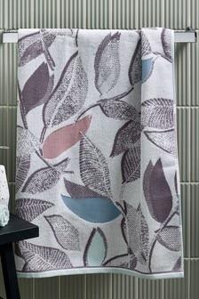 Grey Contemporary Leaf Towel