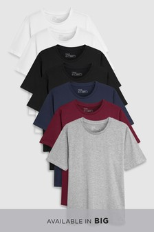Mixed Colour T-Shirts Seven Pack