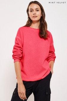 Mint Velvet Pink Garment Dye Sweater