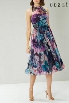 Coast Blue Ciara Printed Midi Dress
