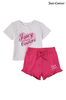 Juicy Couture Heart T-Shirt And Shorts Set