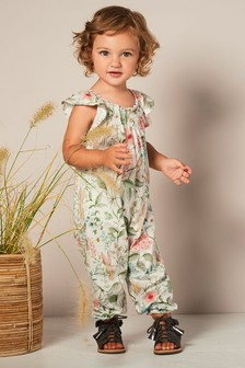 Floral All Over Print Playsuit (3mths-7yrs)