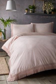Appletree Tasha Tassels Duvet Cover And Pillowcase Set