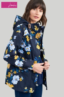 Joules Blue Coastprint Waterpoof Jacket Bouquet