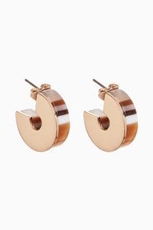 Resin Stud Circle Earrings