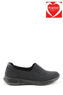 Heavenly Feet Black Ladies Ath-Leisure Shoes