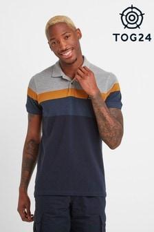 Tog 24 Blue Ramsden Mens Stripe Poloshirt