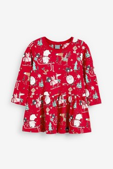 Christmas Print Dress (3mths-7yrs)