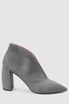 Banana Heel Shoe Boots
