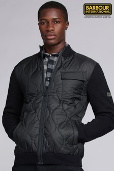 Barbour® International Slipstream Quilted Knitted Jumper