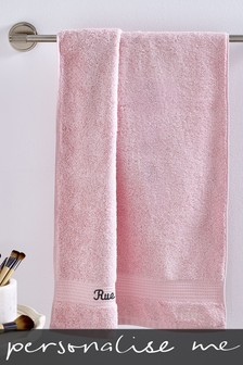Personalised Soft Pink Towels