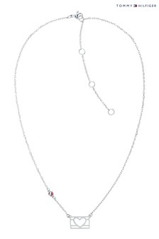 Tommy Hilfiger Silver Heart Necklace