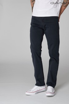 GANT Navy Desert Twill Straight Fit Jean