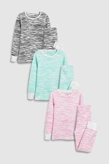 Zebra Print Snuggle Fit Pyjamas Three Pack (3-16yrs)