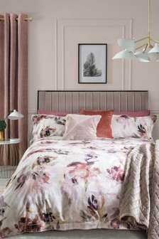 Blush 300 Thread Count 100% Cotton Nordic Light Collection Luxe Duvet Cover and Pillowcase Set