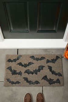 Glitter Bats Halloween Doormat
