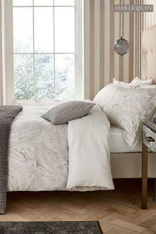 Harlequin Ivory Makrana Marble Print Cotton Pillowcase