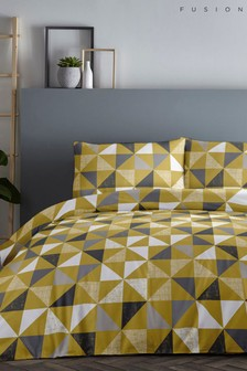 Fusion Geometric Duvet Cover and Pillowcase Set
