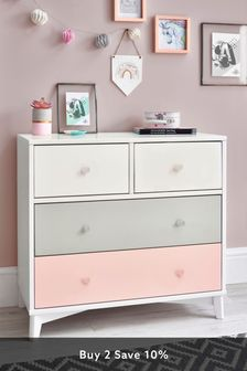 Quinn Pink Painted Chest of Drawers