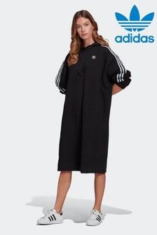adidas Originals Black Adicolor Classics Hoodie Dress