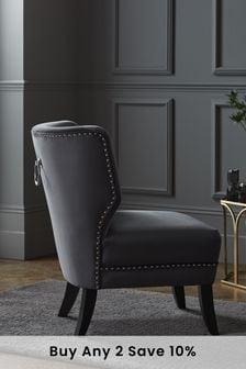 Blair Accent Chair With Black Legs