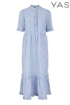 Y.A.S Blue Monira Striped Long Dress