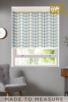 Orla Kiely Blue Two Colour Stem Made To Measure Roller Blind