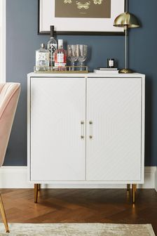 White Textured Painted Cabinet