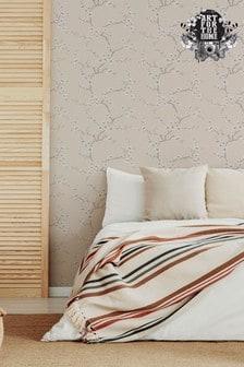 Art For The Home Neutral Fresco Apple Blossom Wallpaper