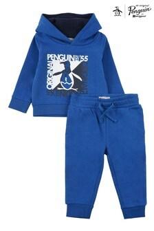 Original Penguin® Blue Graphic Hoodie And Joggers Set