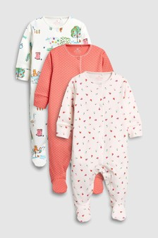 Farm Animal Sleepsuits Three Pack (0mths-2yrs)