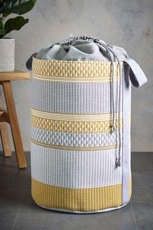 Mini Geo Stripe Laundry Bag