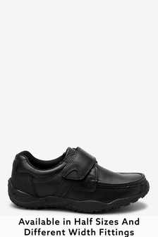 Narrow Fit Sporty Single Strap Leather Shoes (Older)