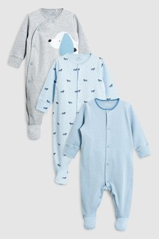 Delicate Dog Sleepsuits Three Pack (0mths-2yrs)