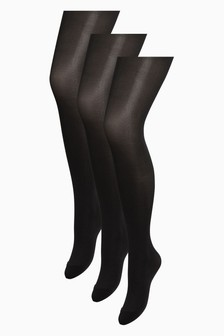 40 Denier Opaque Tights Three Pack