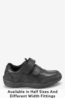 Narrow Fit Sporty Double Strap Leather Shoes (Older)