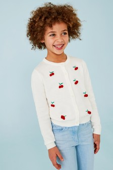 Embroidered Cherry Cardigan (3-16yrs)