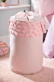 Rose Ruffle Storage Bag