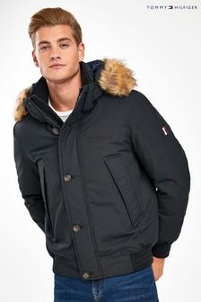 Tommy Hilfiger Black Hampton Down Bomber Jacket