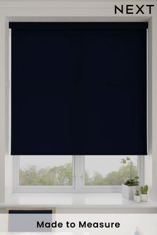 Asher Navy Blue Made To Measure Light Filtering Roller Blind