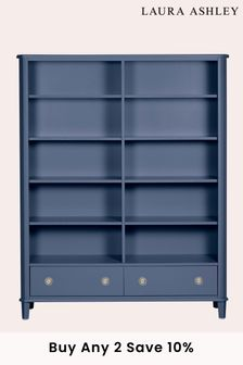 Henshaw Dusky Seaspray 2 Drawer Double Bookcase by Laura Ashley