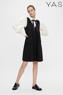 Y.A.S Black Melea V-Neck Dress
