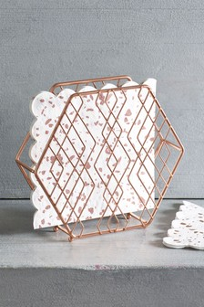 Rose Gold Effect Napkin Holder