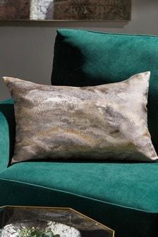 Metallic Stormy Jacquard Cushion