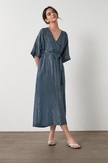 Midi Belted Kaftan Dress